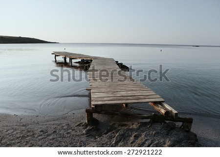 Zen pier into the Black sea