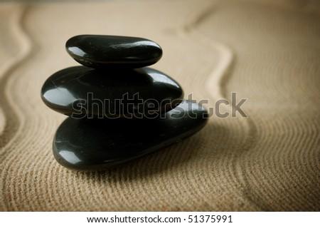 Zen Spa Stones - stock photo