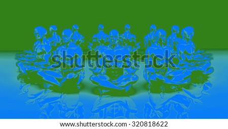 Zen State and a Peaceful or Calm Mind Concept - stock photo