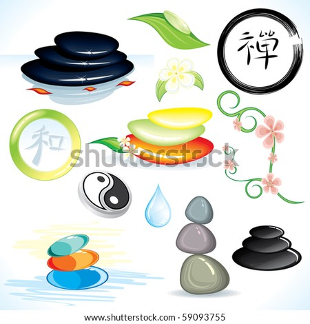 Zen theme design elements (id=59090119 vector)