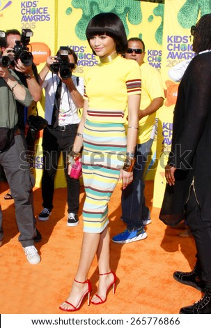 Zendaya at the Nickelodeon's 28th Annual Kids' Choice Awards held at the Forum in Inglewood, USA on March 28, 2015.