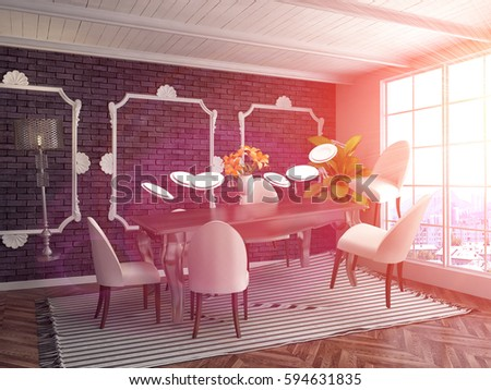 Zero Gravity Furniture Hovering Living Room Stock Illustration ...