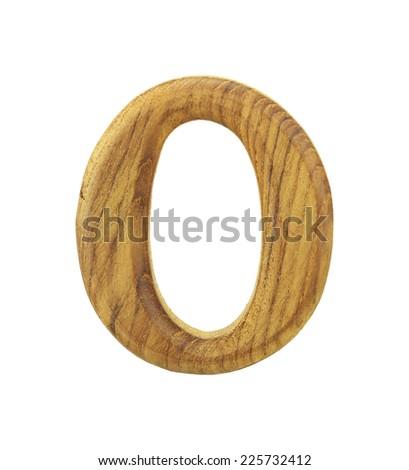Zero Wooden Isolated On White Background - stock photo