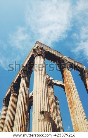 Zeus temple in Athens