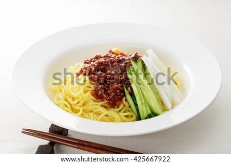 Zhajiangmian - stock photo