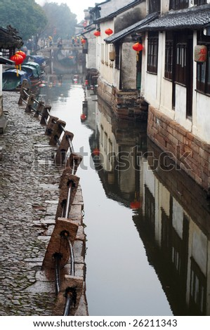 Zhouzhuang, Ancient water town near Shanghai, traditional chinese architecture