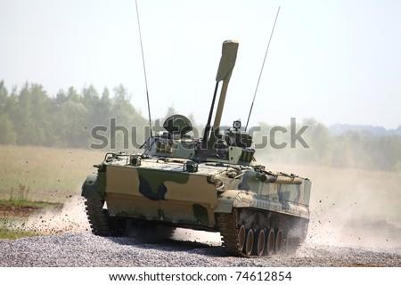 Stock photo zhukovsky july russian military vehicle bmp at