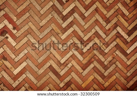 Zig Zag Brick Wall Texture Pattern As Urban Background Top View