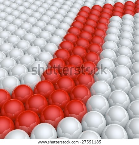zigzag line in spheres