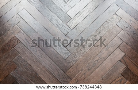 Light Wood Floor Background. zigzag wood floor pattern background with light from window close up detail Zigzag Wood Floor Pattern Background Light Stock Photo 738244348