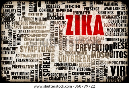 Zika Virus as a Danger Concept Art - stock photo