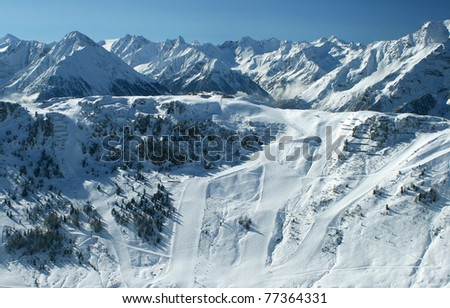 Zillertal Arena, Penken - stock photo