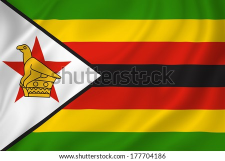 Zimbabwean flag Stock Photos, Illustrations, and Vector Art