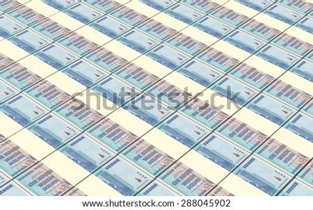 Zimbabwean dollar bills stacks background - stock photo