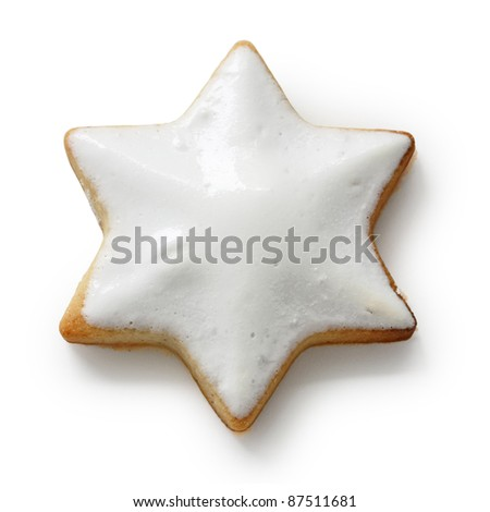Zimtstern , homemade german christmas cookie - stock photo