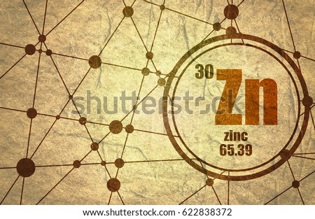 zinc chemical element sign with atomic number and atomic weight chemical element of periodic - Periodic Table Atomic Mass Zinc