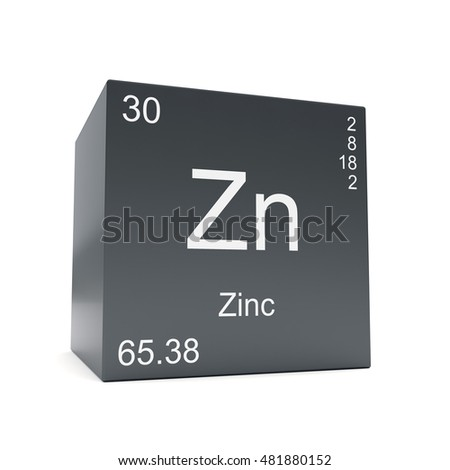 Zinc Chemical Element Symbol Periodic Table Stock Illustration