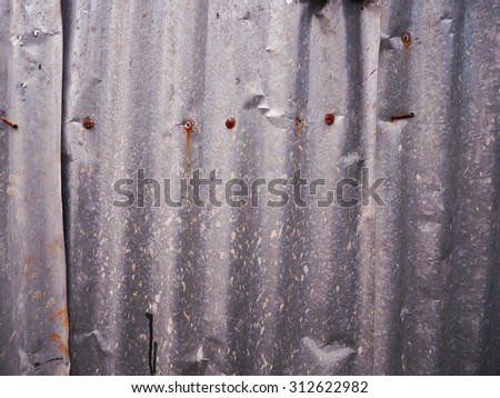 Zinc galvanized grunge metal texture may be used as background - stock photo