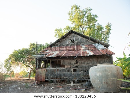 Zinc home in Thailand - stock photo