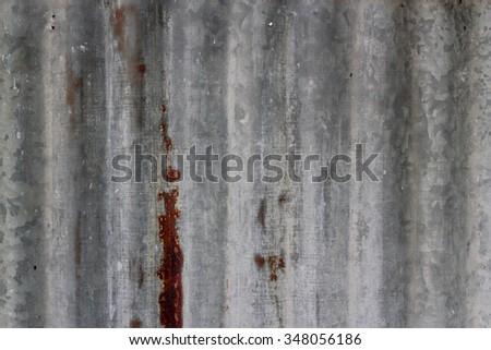 Zinc texture / rusty corrugated iron metal texture. - stock photo