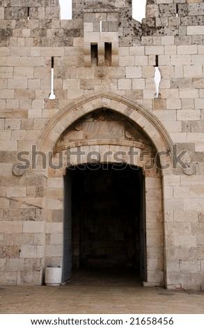 Zion gate Jerusalem - stock photo