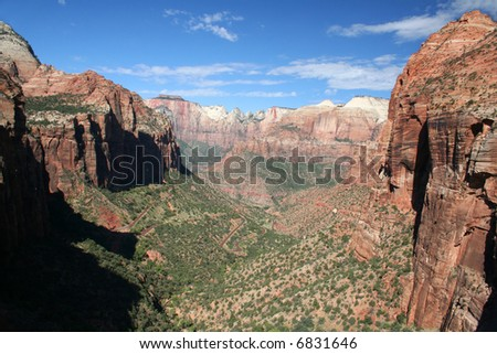 Zion National Park overview - stock photo