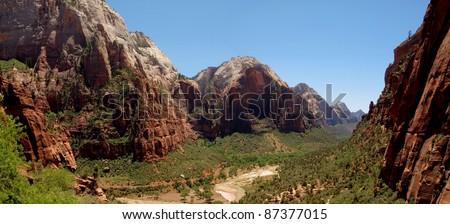 Zion National Park Utah - stock photo