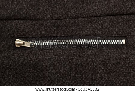 zipper on a textile background