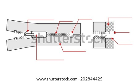 Zipper specification zip illustration isolated on stock illustration zipper specification zip illustration isolated on white background ccuart Gallery