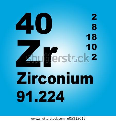 Zirconium periodic table elements stock illustration 605312018 zirconium periodic table of elements urtaz Images
