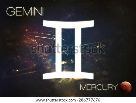 Zodiac sign - Gemini - stock photo