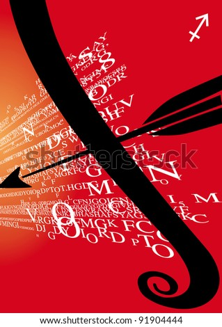 zodiac sign sagittarius - stock photo
