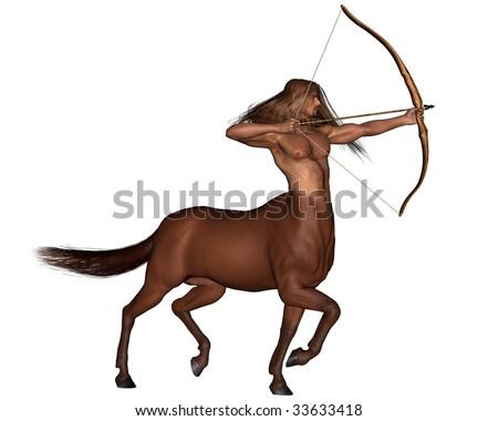 Zodiac sign - Sagittarius the archer - stock photo