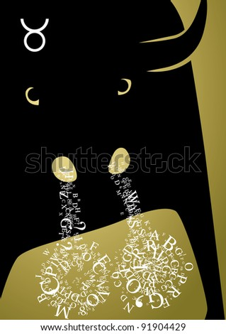 zodiac sign taurus - stock photo