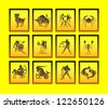 zodiac signs - stock vector