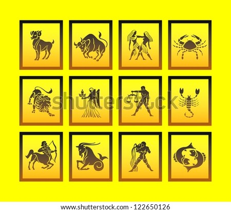 zodiac signs - stock photo