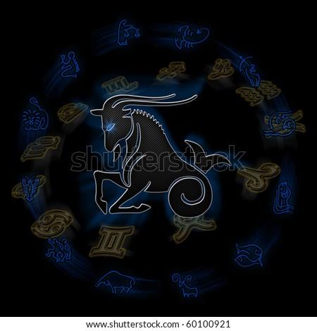 Zodiac signs - Aries - stock photo
