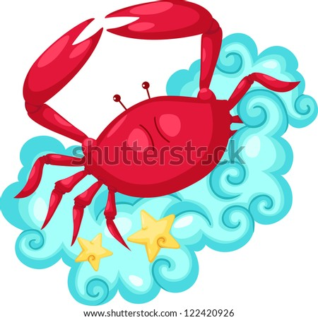 Zodiac signs -Cancer.jpg  (eps vector id 107329355) - stock photo