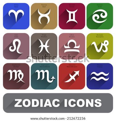 Zodiac Signs Set raster version - stock photo