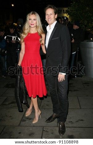 Zoe Hobbs and Brendan Cole arriving for the English National Ballet Christmas showing of The Nutcracker, at The Coliseum Theatre, London. 14/12/2011 Picture by: Alexandra Glen / Featureflash - stock photo