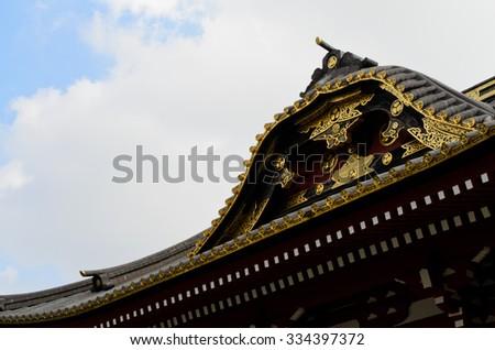 Zojoji temple in Tokyo, Japan - stock photo