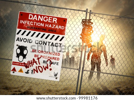 Zombie Aftermath - When zombies come - be ready! - stock photo