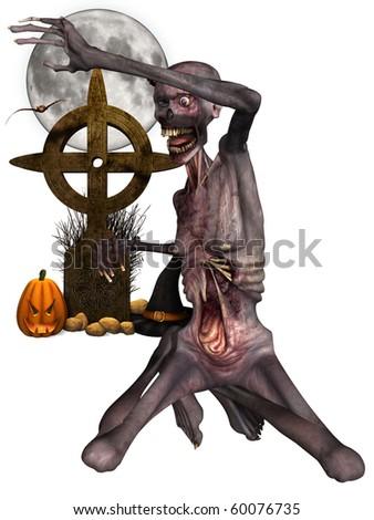 Zombie - Halloween Figure - stock photo