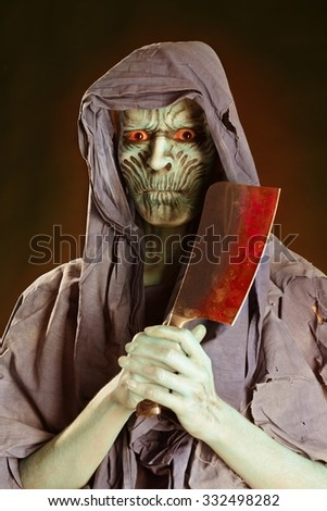 zombie Halloween masquerade - stock photo