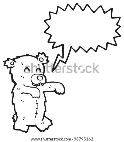 zombie teddy bear cartoon