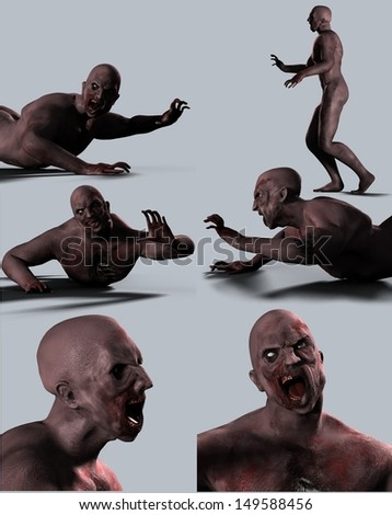 Zombies Collection - stock photo