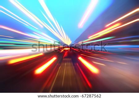 zoom acceleration motion - stock photo