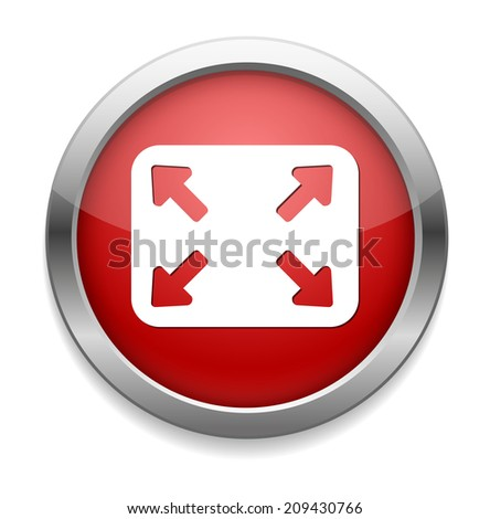 zoom button - stock photo
