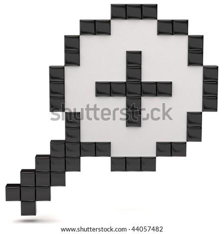 zoom cursor - stock photo