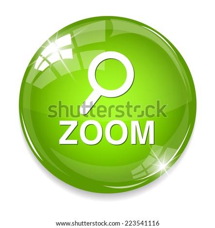 zoom icon - stock photo